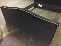 """NEW 4'6"""" Double Bed Black Velvet Head Board and Foot Board ONLY"""