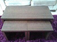 Next Mango opus coffee table set of 3 and matching TV stand
