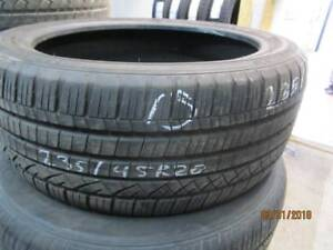 235/45R20 SINGLE ONLY USED DUNLOP A/S TIRE