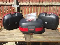Set Of Givi Hard Luggage Cases.