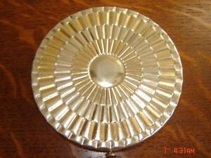 Vintage Art Deco Metal Face Powder Vanity Compact