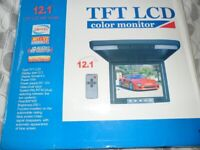 TFT LCD 12 inch colour monitor brand new with remote