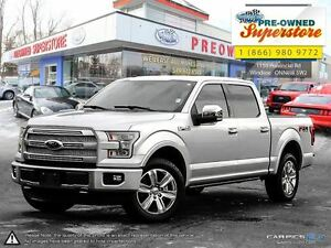 2016 Ford F-150 PLATINUM>>>POWER BOARDS, PANORAMIC ROOF, 5.0L<<<