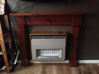 Wooden fire surround £15 Ono. Collection only. First come first served. Screws to wall