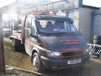 FORD TRANSIT RECOVERY TRUCK JULY 2018 MOT PRIVATE PLATE LOT,S NEW PARTS £4500