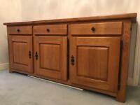 Oak Sideboard solid Oak 202cm x 55cm x 90cm