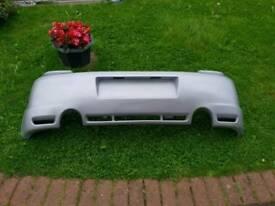Vw mk4 golf r32 rep rear bumper in reflex silver