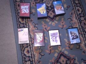 Assorted Now Albums on cassette for sale
