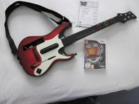 NINTENDO WII GUITAR HERO GUITAR WITH GUITAR HERO WARRIORS OF ROCK GAME