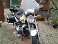 BMW R850 r classic, byCream colour, pannies, wind screen, crash bars, bark busters