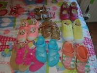 Bundle of girls summer shoes all size 9