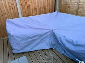 Corner garden furniture outdoor cover bought for Kettler rattan set