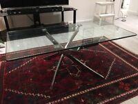 Modern design glass coffee table
