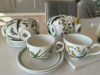 Portmeirion botanical garden cups and saucers