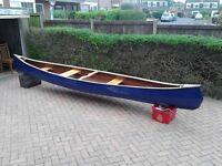 Wooden canadian canoe