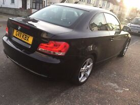BMW 1 series coupe, only 78k, sport in black 2011