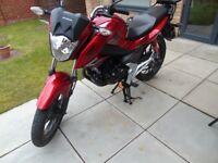 Honda CB125F (USED, FULL HONDA SERVICE HISTORY, GIVI RACK, 7600 MILES)