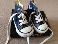 Navy Converse trainers
