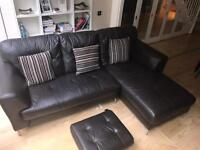 Good condition real leather sofa