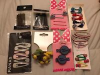 Assorted hair clips/bands