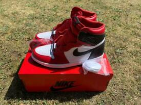 Nike Air Jordan 1 Retro High OG Satin Snake Size UK 6.5 Deadstock