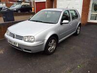 Volkswagen Golf, 2002, Silver, 1.9tdi Diesel, 6 Speed, Low Miles, RECENT SERVICE, F.Service History