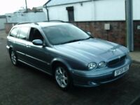 2005 55 JAGUAR X-TYPE 2.0 D SPORT ESTATE ** DIESEL ESTATE ** ONLY 89900 MILES ** SERVICE HISTORY **