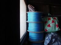 A CARBOOT JOBLOT OF 7 X WHEELS OF GARDENING/ FISHING ROPE QUITE BIG ONES