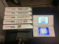 nintendo ds lite console (white) with games BARGIN