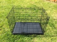 Large Black Dog Crate