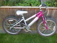 "Raleigh Krush 20"" wheels 6 gears bike"