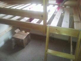 LOFT BED IN VERY GOOD CONDITION -JUST THE BASE (FRAME)