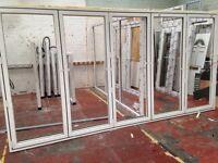 Bi folding doors white on white 2095 by 4125 +glass