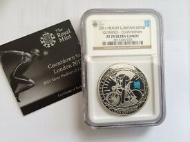 2011 Countdown to Olympics Silver Proof Coin NGC Certified