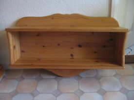 "Good Quality Pine Shelf Unit Very Good Condition 33"" Long x 26"" High x 8"" Deep"