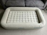 Inflatable child's air bed