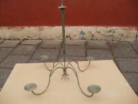 Copper verdigris colour chandelier