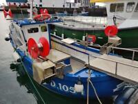 22ft Fishing Boat with full cat A 37Kws & 3.92Grt wish Shellfish Fishing License.