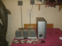 Sony HCD-SB100 DVD Home Theatre System DAV-SB100 With Leads, Speakers Stands Etc. No Remote Control