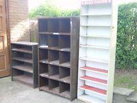 1 Old Metal Shelving Storage Unit