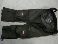 Motor cycle over trousers
