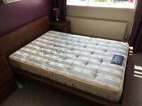 Double bed, mattress and drawers