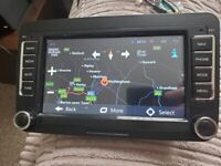 Volkswagen car stereo dab android bluetooth 2din sat nav for VW Golf Passat Caddy wifi rns510 style