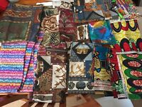 Large Bag of Assorted African Style fabrics
