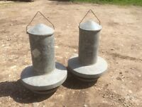 Two Chicken Feeders