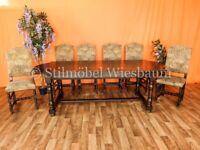 Nr.1273 Esstisch Tisch mit 6 Stühlen Kirsche Eiche dunkel Holz Rheinland-Pfalz - Wiesbaum Vorschau