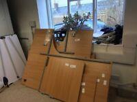 Office clearance: desks, pedestals, monitors, keyboards, server cabinet, flip chart, printer etc