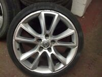 """VAUXHALL ASTRA VXR ALLOY WHEEL 19"""" INC TYRE USED ( HAS BEEN REPAIRED )"""