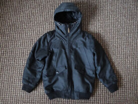 NEXT boys black hooded quilted coat