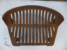 "Cast Iron 15"" Fire Grate and Front"